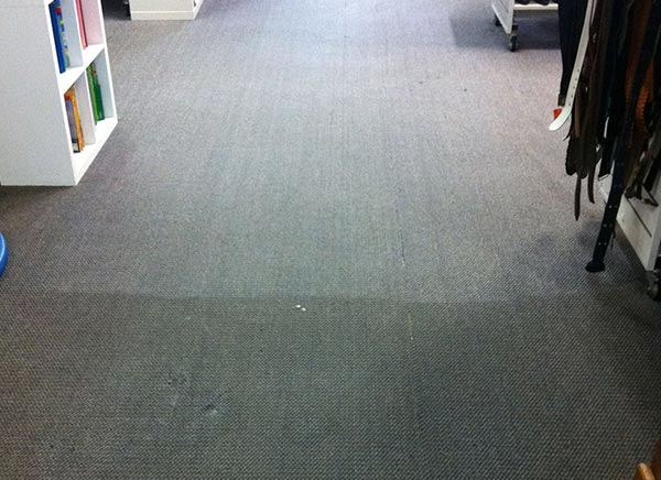 Commercial Carpet Cleaning - Before & After View