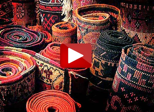 Rug Cleaning Melbourne - Oriental rugs rolled up