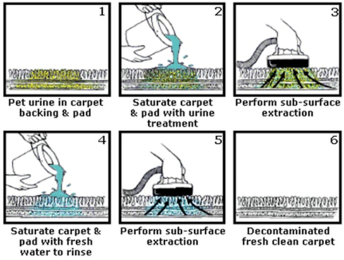Urine and Odour Treatments - Sub-surface extraction treatment