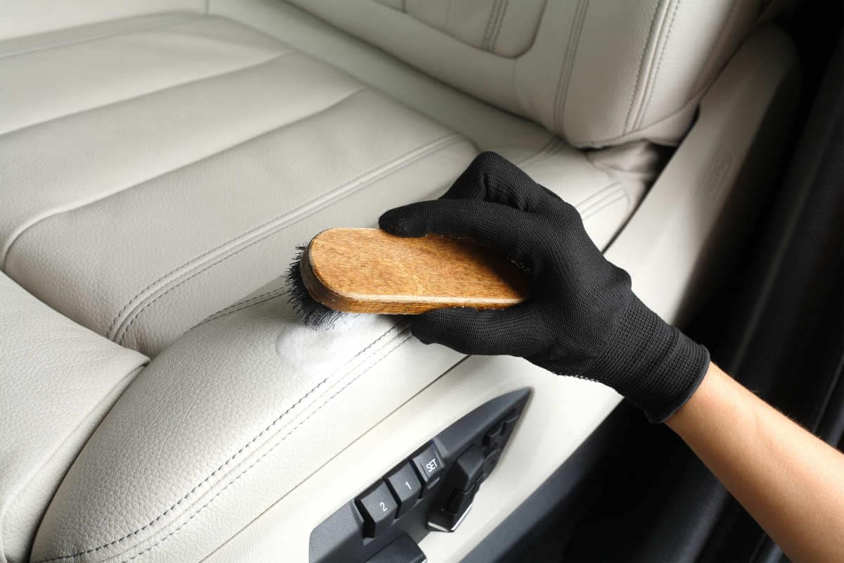 Vehicle interior cleaning Melbourne a car leather interior