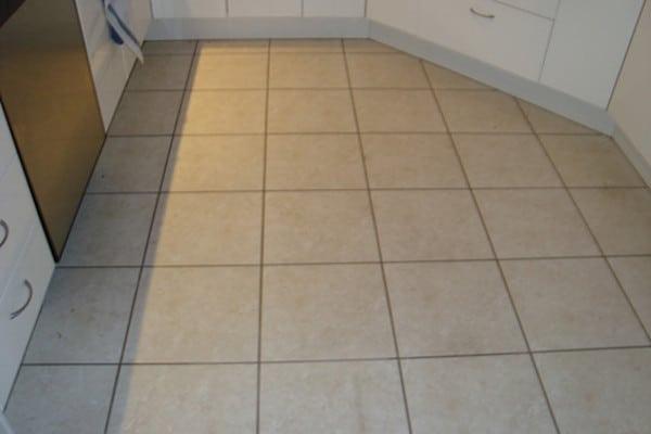 Kitchen tiles before grout colour seal Melbourne